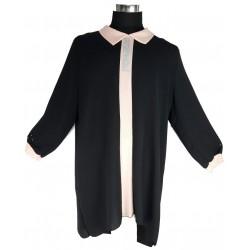 Blusentunika Übergrösse SCHWARZ/Lila  *Islam Hijab Abaya muslim takschita tunika abaya hijab islam*