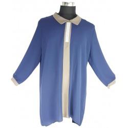 Blusentunika Übergrösse Blau/Grau *Islam Hijab Abaya muslim takschita tunika abaya hijab islam*