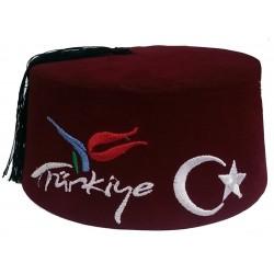 Türkenfez Dunkelrot Türkiye -  Fez, Hut - Türkei, Traditionelle Mütze
