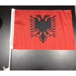 Autofahne Autoflagge ALBANIEN Fahnen Auto Flaggen 30x45cm Blau - Shqiperia KS Kosovo AL Albania Kosova Shqip Prishtina Tirana