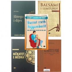 Kompleti prej 5 librave: Kushtet, Mëkatet, Shtegu, Burrat, Balsami...